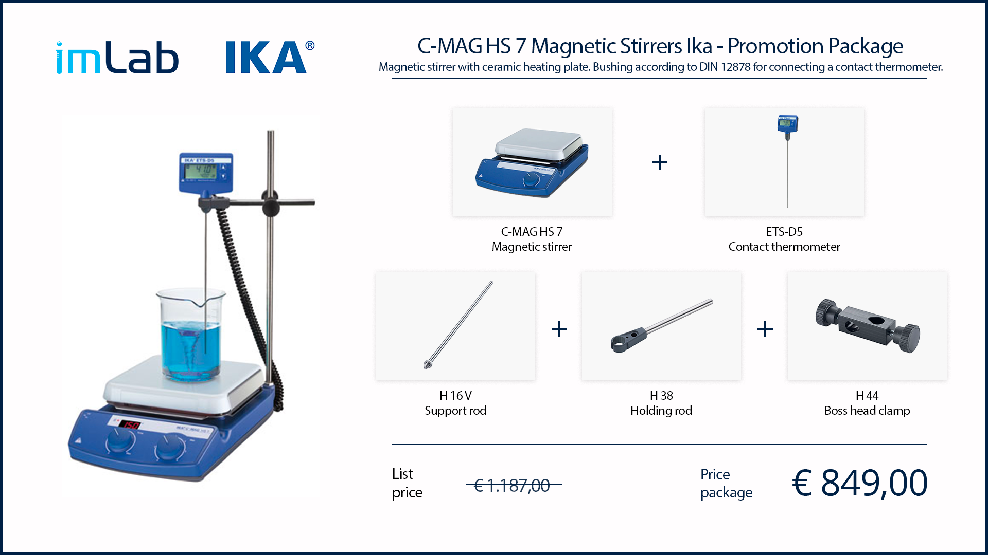 ika promotion c-mag hs-7 package magnetic stirrer imlab